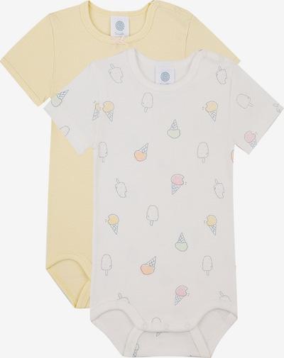 SANETTA Rompertje/body in de kleur Geel / Wit, Productweergave