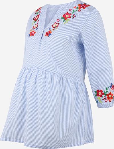 Bluză JoJo Maman Bébé pe albastru / roșu / alb, Vizualizare produs