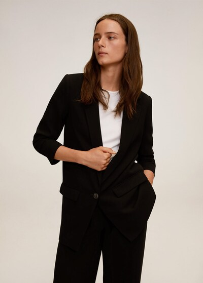 MANGO Blazer 'Eleonor' in schwarz, Modelansicht