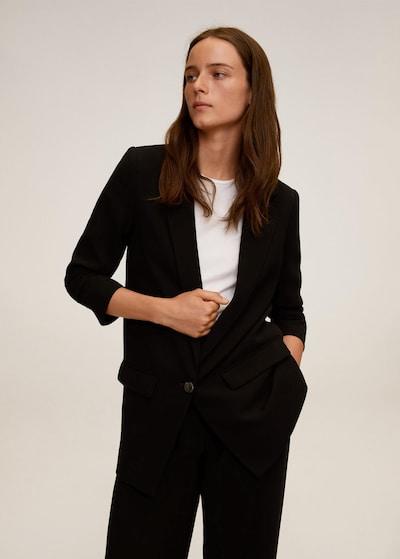MANGO Blejzer 'Eleonor' u crna, Prikaz modela