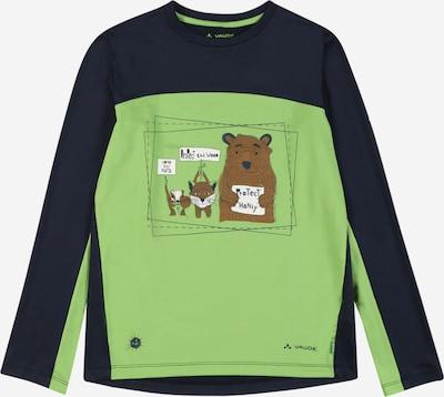 VAUDE Funkčné tričko 'Solaro' - tmavomodrá / hnedá / jablková / biela, Produkt