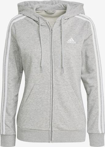 ADIDAS ORIGINALS Zip-Up Hoodie in Grey