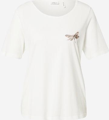 s.Oliver BLACK LABEL Shirt in White