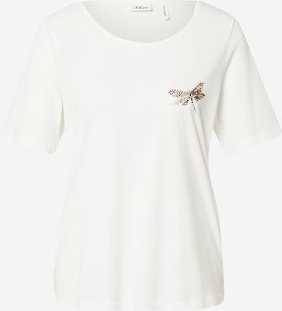 s.Oliver BLACK LABEL T-Shirt in goldgelb / weiß, Produktansicht