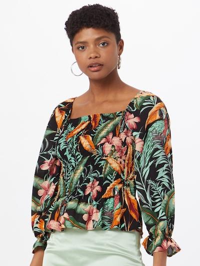 JDY Blouse 'Mina' in de kleur Gemengde kleuren / Zwart, Modelweergave