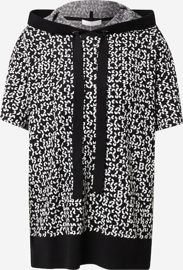 BOSS Casual Jersey 'Flara' en negro / blanco, Vista del producto