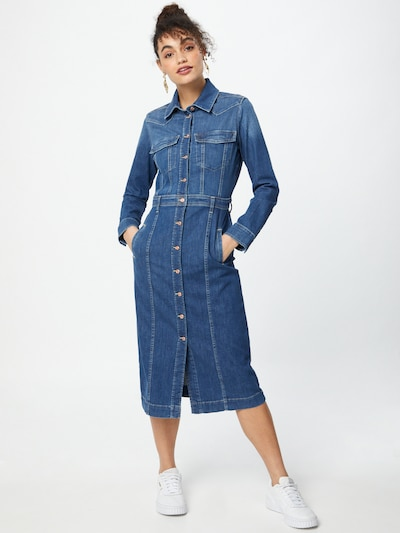 7 for all mankind Kleid in blue denim, Modelansicht