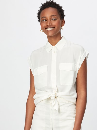BOSS Casual Bluse in offwhite, Modelansicht