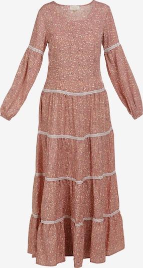 usha FESTIVAL Kleid in gelb / dunkelgrün / altrosa / weiß, Produktansicht