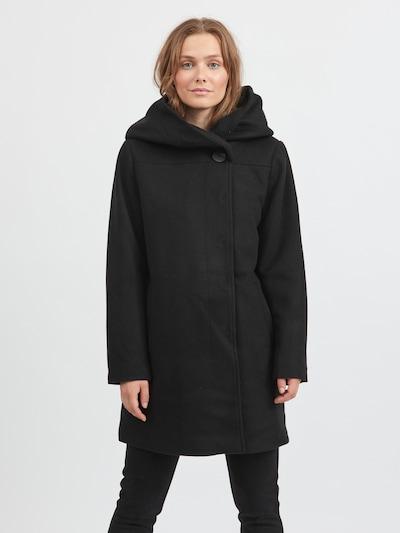 VILA Tussenmantel 'Camua' in de kleur Zwart, Modelweergave