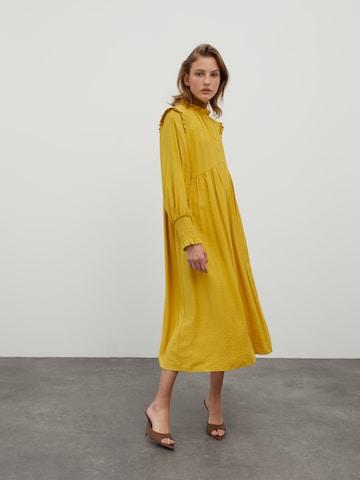 EDITED Shirt Dress 'Mascha' in Yellow