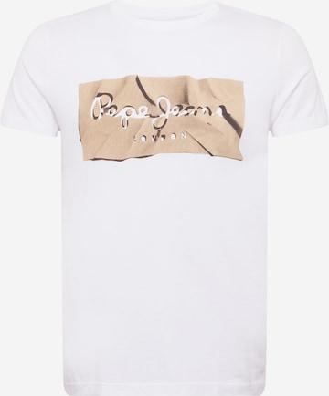 Pepe Jeans Тениска 'RAURY' в бяло