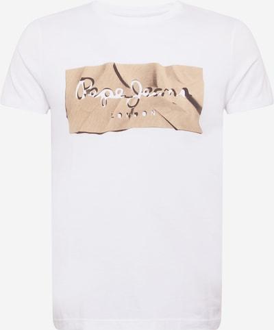 Pepe Jeans Shirt 'RAURY' in de kleur Lichtbeige / Zwart / Wit, Productweergave