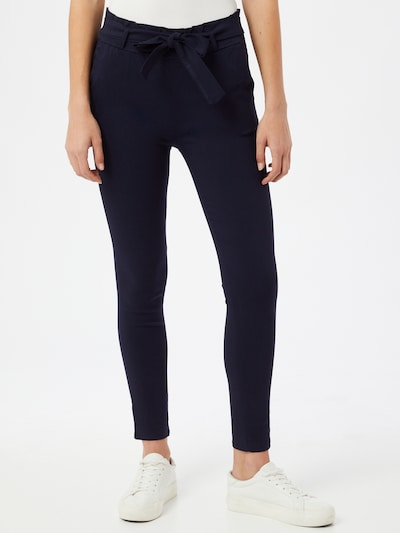 Hailys Kalhoty se sklady v pase 'Bengi' - námořnická modř, Model/ka