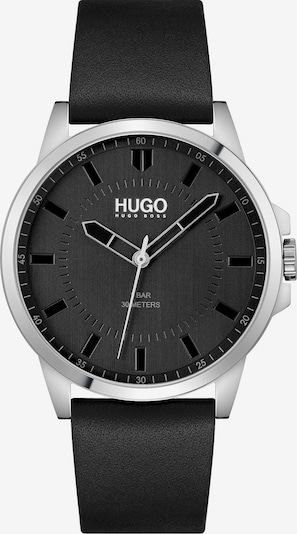 HUGO Analoguhr in schwarz / silber, Produktansicht