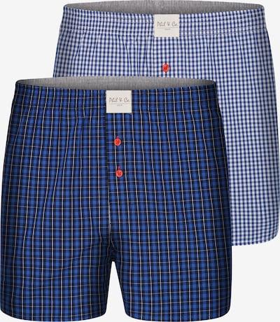 Phil & Co. Berlin Boxers en bleu clair / bleu foncé, Vue avec produit
