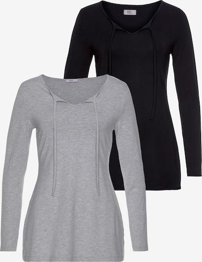 FLASHLIGHTS Tunikashirt (2 Stück) in grau / schwarz, Produktansicht