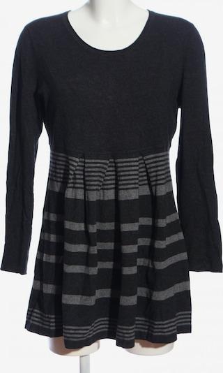 ESISTO Strickkleid in XL in hellgrau / schwarz, Produktansicht