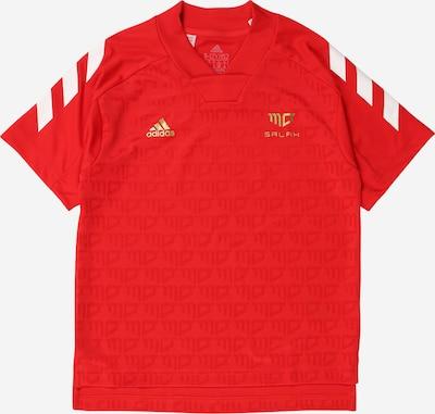 ADIDAS PERFORMANCE Funktionsshirt 'Salah' in gold / rot / weiß, Produktansicht
