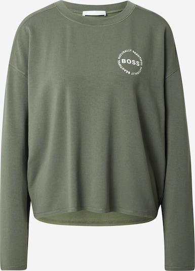 BOSS Casual Sweatshirt 'Elina' in de kleur Groen / Wit, Productweergave