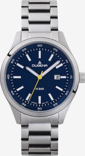 DUGENA Uhr in dunkelblau / silber, Produktansicht