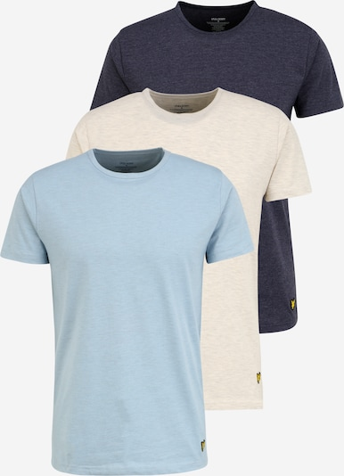 Lyle & Scott Undershirt 'BAKER' in Light blue / Dark blue / White, Item view