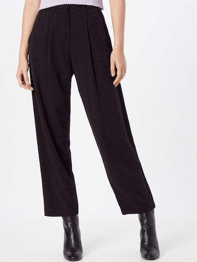 Pantaloni cu dungă 'KAUF DICH GLÜCKLICH' Kauf Dich Glücklich pe negru, Vizualizare model