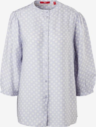 s.Oliver Crêpe-Bluse mit Allover-Print in himmelblau / weiß, Produktansicht