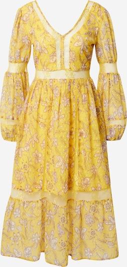 Frock and Frill Robe en beige clair / jaune / blanc, Vue avec produit