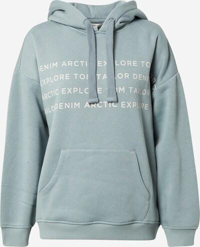 TOM TAILOR DENIM Sweatshirt in Opal / White, Item view