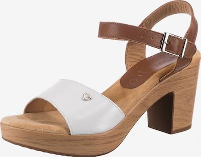 JANE KLAIN Sandale in braun / weiß, Produktansicht