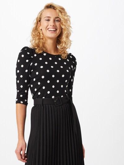 JACQUELINE de YONG Shirt 'Hailey' in schwarz / weiß: Frontalansicht
