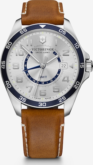 VICTORINOX Analoog horloge in de kleur Bruin / Zilver, Productweergave