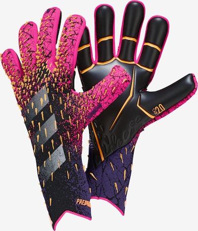 ADIDAS PERFORMANCE Torwarthandschuh 'Predator Pro' in goldgelb / grau / dunkellila / pink / schwarz, Produktansicht