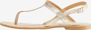 IZIA Sandale in Gold