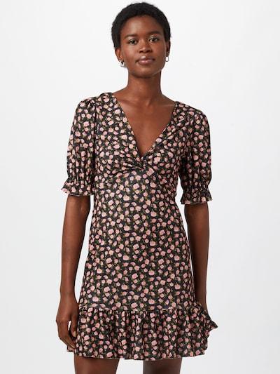 River Island Kleid in oliv / rosa / schwarz, Modelansicht