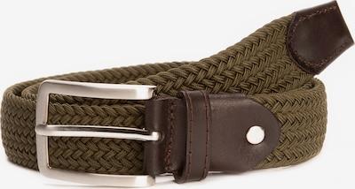 BA98 Flechtgürtel in braun / grün, Produktansicht