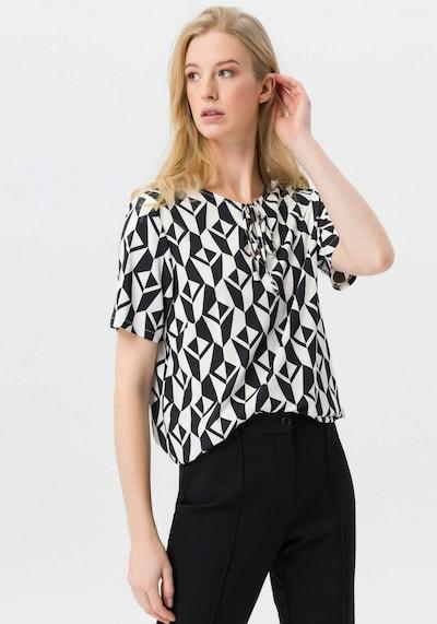 Uta Raasch Bluse halbarm in schwarz / weiß, Modelansicht