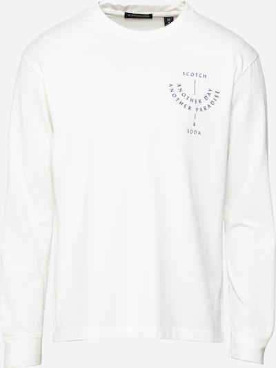 SCOTCH & SODA T-Shirt en bleu violet / blanc: Vue de face