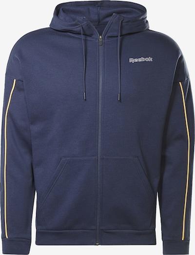 REEBOK Sportjas in de kleur Donkerblauw / Geel, Productweergave