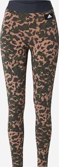 ADIDAS PERFORMANCE Sporthose in hellbraun / basaltgrau / dunkelgrün / schwarz / weiß, Produktansicht