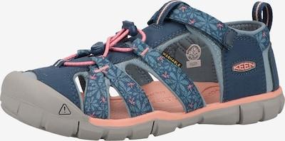 KEEN Sandalen in de kleur Blauw / Donkerblauw / Zalm roze, Productweergave