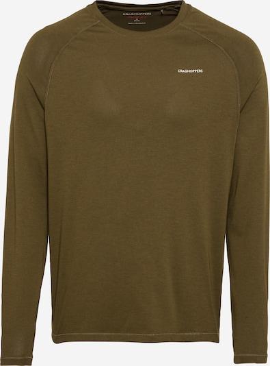CRAGHOPPERS Sportsweatshirt 'Bayame' in khaki / weiß, Produktansicht