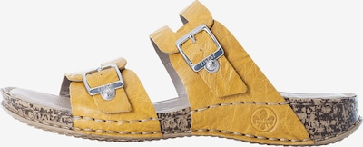 RIEKER Pantolette in gelb, Produktansicht