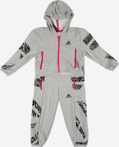 Completo per l'allenamento ADIDAS PERFORMANCE di colore grigio chiaro / rosa / nero, Visualizzazione prodotti