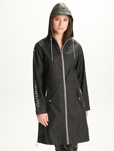 Notyz Functionele mantel 'Nina' in de kleur Grijs / Zwart, Modelweergave