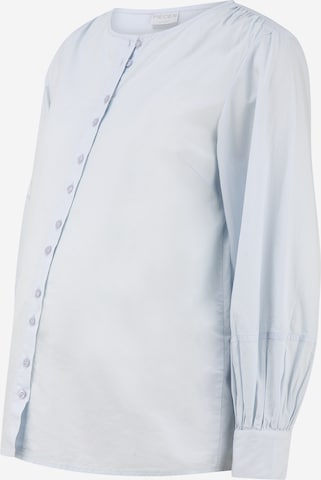 MAMALICIOUS Bluse i blå