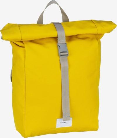 SANDQVIST Sac à dos 'KAJ' en jaune / gris, Vue avec produit