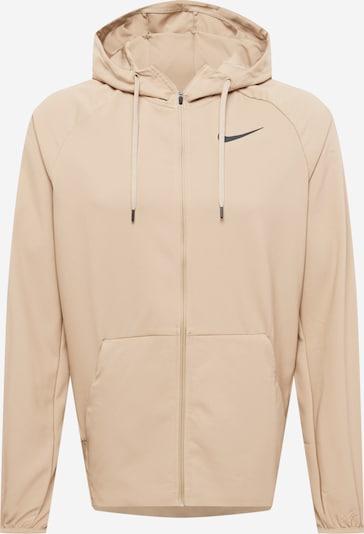 NIKE Trainingsjacke 'Flex' in beige / schwarz, Produktansicht