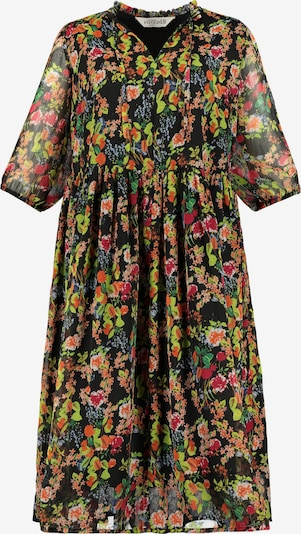 Studio Untold Kleid in grün / orange / schwarz, Produktansicht